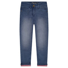 Junior - Jeans droit fitté doublé jersey