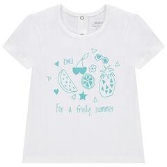 T-shirt met korte mouwen uit jerseystof met fruitprint