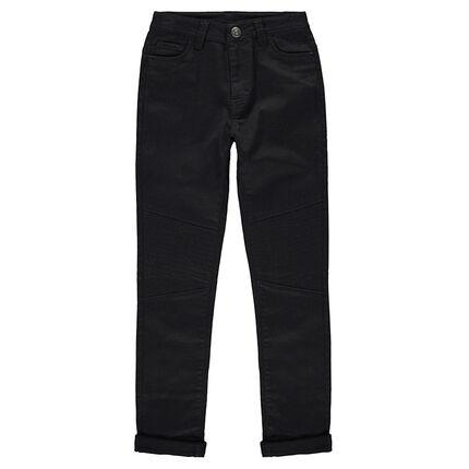 Junior - Pantalon en toile uni avec jeu de surpiqûres sur les jambes
