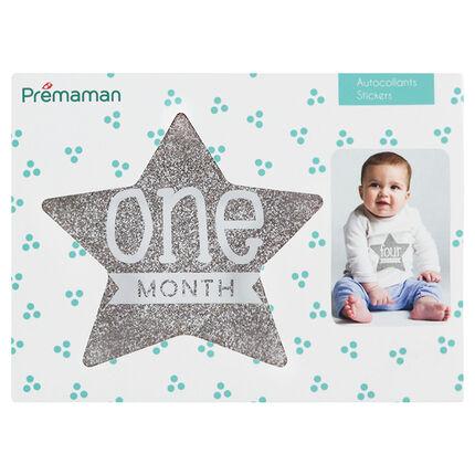 12 Stickers in stervorm, maand per maand