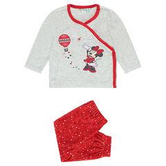 Fluwelen pyjama Disney Minnie, aangepast aan de leeftijd