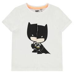 T-shirt met korte mouwen van jerseystof met gescheurd effect en print van ©Warner Batman