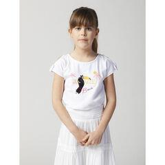 T-shirt manches courtes motif toucan en sequins magiques