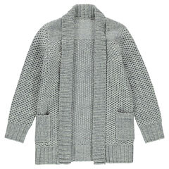 Gilet long en tricot épais avec poches