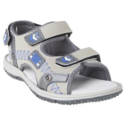 Open schoenen met inzetstuk