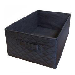 Kleine gematelasseerde mand voor badmeubel – Zwart