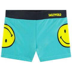 Boxer de bain print Smiley