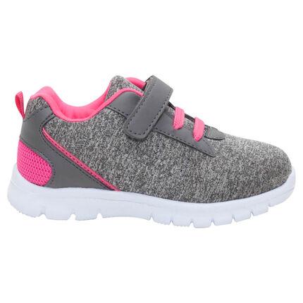 Lage sneakers met elastische veters en klittenbandsluiting van maat 24 tot 29