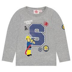 T-shirt met lange mouwen met print van Brandweerman Sam 2 van ©Prism Art en Design Limited