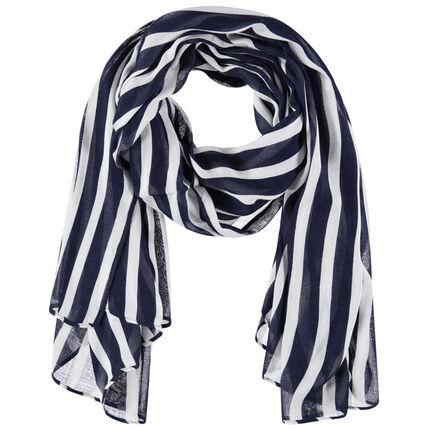 Zijden sjaaltje met contrasterende strepen