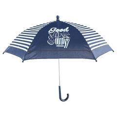 Paraplu met contrasterende strepen en fantasiemotief