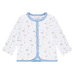 Omkeerbare vest met drukknoopsluiting met print me sterren/koala's
