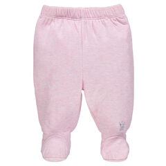 Pantalon en jersey chiné avec pieds fermés