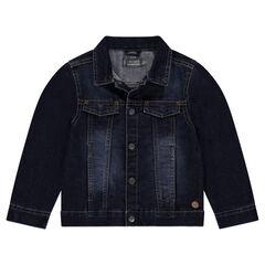 Jeansvest met used effect