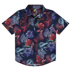 Hemd met korte mouwen en bloemenprint