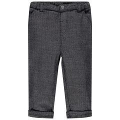 Pantalon en maille chevrons gris