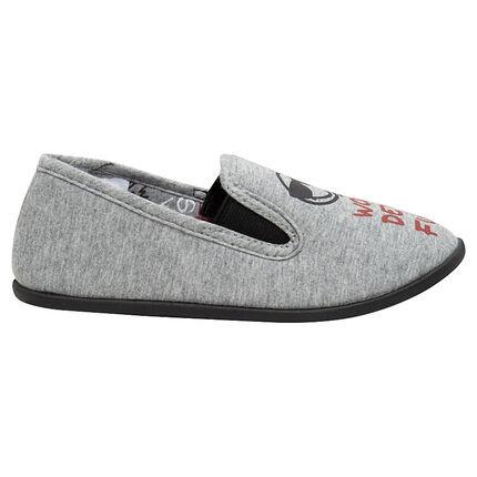Pantoffels van jerseystof met ©Smileyprint