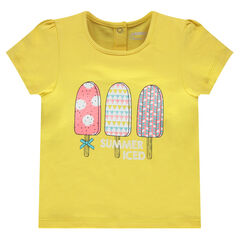 T-shirt met decoratieve, korte mouwen