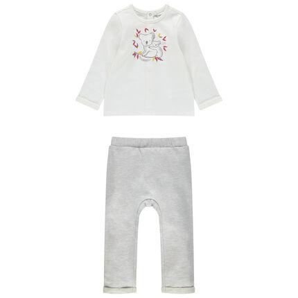 Ensemble van T-shirt met lange mouwen met koalaprint en broek met koalaprint