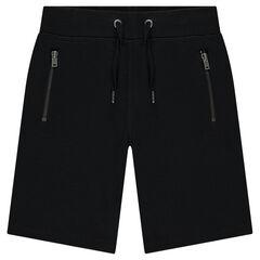 Bermuda en molleton piqué avec poches zippées