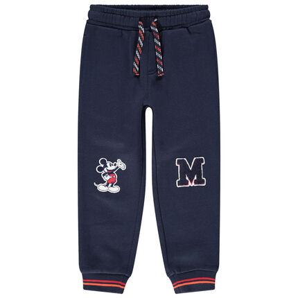 Pantalon de jogging en molleton avec Mickey Disney et lettre patchés