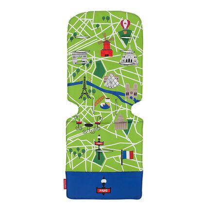 Kussen voor kinderwagen - Paris City Map