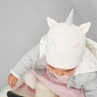 Bonnet licorne en tricot doublé jersey
