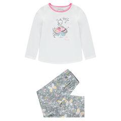 "Pyjama van jerseystof met prinsessenprint en vlinders ""all-over"""