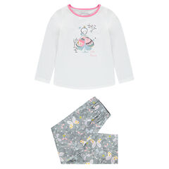 Pyjama en jersey avec  princesse printée et papillons all-over