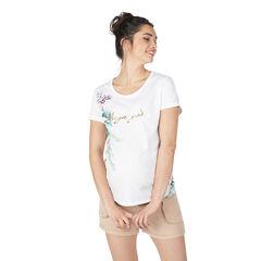 Zwangerschapsshirt met korte mouwen en bloemenprint