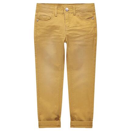 Pantalon en twill surteint effet crinkle