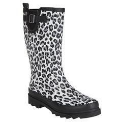Bottes de pluies imprimées léopard