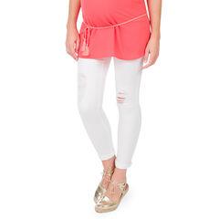 Jeans de grossesse 7/8 ème slim effet used