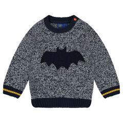 Pull en tricot fantaisie avec badge BATMAN