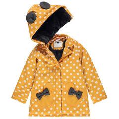 Parka en gomme à pois doublée sherpa motif Minnie Disney