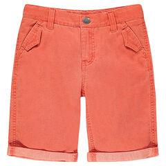 Bermuda en coton armuré avec poches