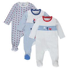 Set met 3 pyjama's van jersey met fantasieprint