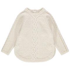 Pull en tricot torsadé pour bébé fille , Orchestra