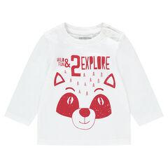 T-shirt met lange mouwen uit jerseystof met pandaprint