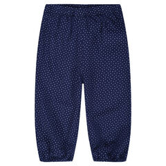 Pantalon fluide imprimé pois all-over