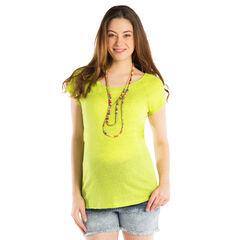 T-shirt korte mouwen voor tijdens de zwangerschap in effen kleur