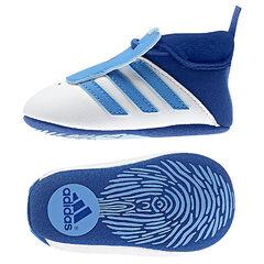 Baskets souples ADIDAS à lacet élastiqué et bandes bleues