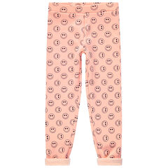 "Legging met sherpavoering en Smiley-print ""all-over"""