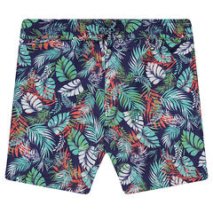 Junior - Short de bain imprimé tropical
