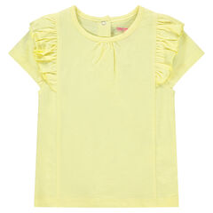 T-shirt met korte mouwen met volants