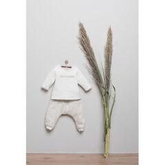 Geboortesetje t-shirt broek omkeerbaar shortje in biologisch katoen