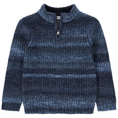 Pull en tricot épais à col zippé