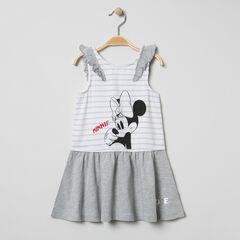Jurk met mouwen met volants met print van Minnie Disney
