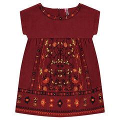 Geborduurde jurk van katoen