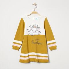 Robe manches longues en tricot avec Marie Aristochats brodée Disney